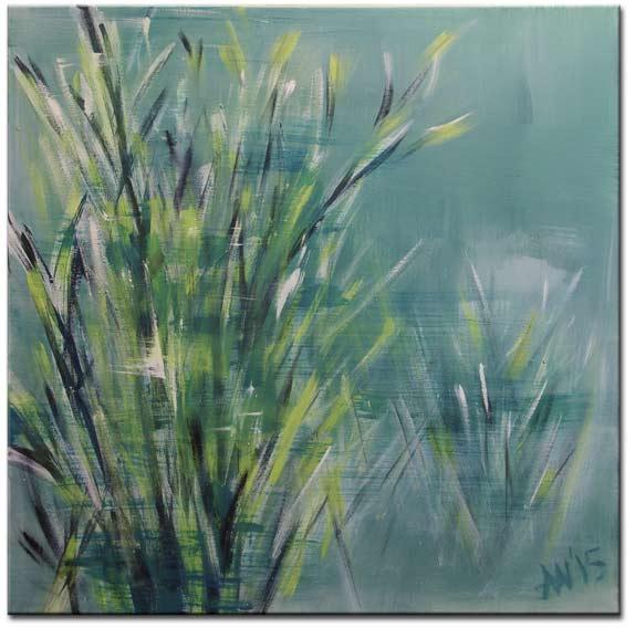 60 x 60 // Acryl  (Moss)